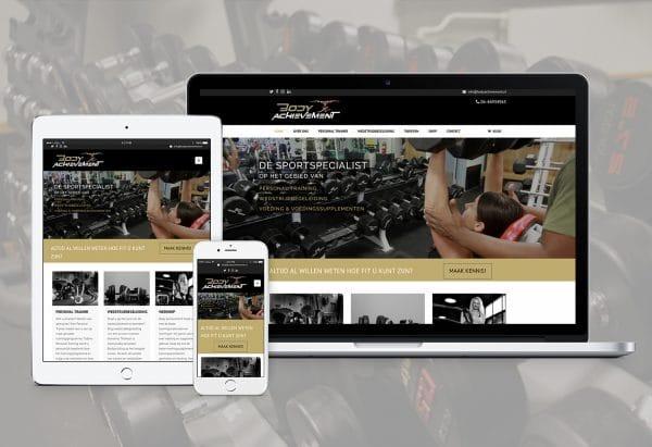 Mooie website voor sportschool
